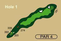 HOLE 1 PAR 4, 339 Yards