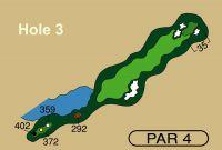 HOLE 3 PAR 4, 372 Yards