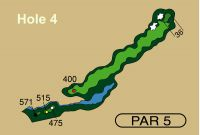 HOLE 4 PAR 5, 515 Yards