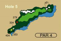 HOLE 5 PAR 4, 353 Yards