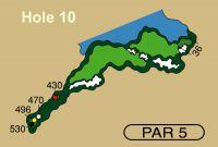 HOLE 10 PAR 5, 496 Yards