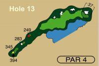 HOLE 13 PAR 4, 345 Yards