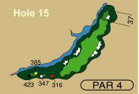 HOLE 15 PAR 4, 385 Yards