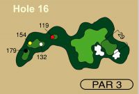HOLE 16 PAR 3, 154 Yards