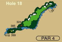HOLE 18 PAR 4, 399 Yards